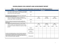 SCHOOL/GRADE LEVEL GROWTH AND ACHIEVEMENT REPORT