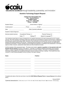 Assistive Technology Support Request
