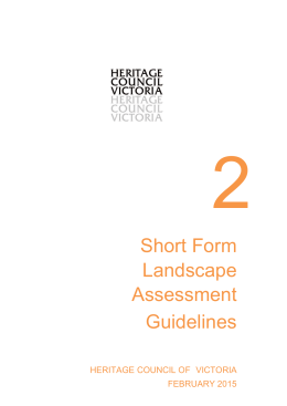 Short Form Landscape Assessment Guidelines (DOCX 1.5 MB)