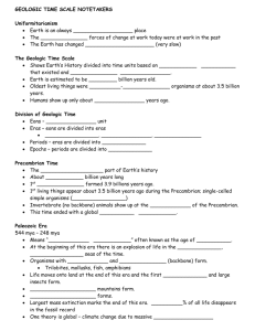 Geologic Time Scale Notetakers