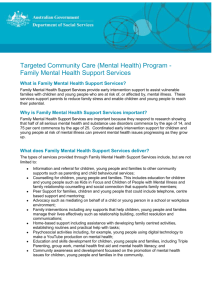 Family Mental Health Support Services