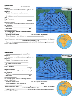Pressure & Weather Notes
