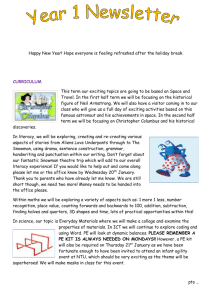 Year 1 Newsletter Happy New Year! Hope everyone is feeling