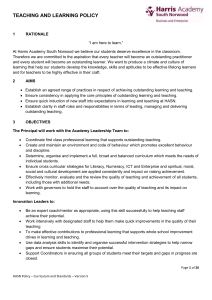teaching and learning policy - Harris Academy South Norwood
