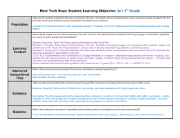 New York State Student Learning Objective Template