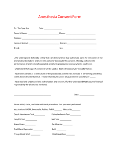 Anesthesia Consent Form
