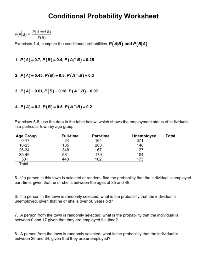 Worksheets Conditional Probability Worksheet 006640634 1 2faaddddf304e9a59e2227114545bc0e png