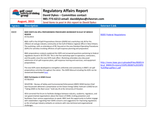 Regulatory Affairs Report - Gulf Coast Safety & Training Group