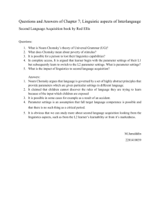 7 Linguistic aspects of interlanguage (QnA)