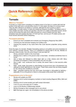 Tornado - The Department of Education and Training