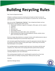 Recycling Rules Tenant Letter