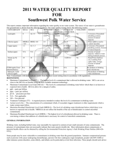 2011 Consumer Confidence Report-Southwest Polk