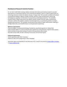 Postdoctoral Research Scientist Position