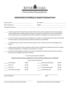 Authorization for Medical or Surgical Treatment Form