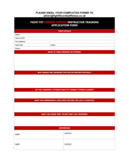 the fitness instructor application form