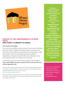 African Literacy Flyer - UC Agriculture and Natural Resources