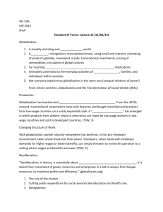 WS 50A Handout of Terms – Lecture 15