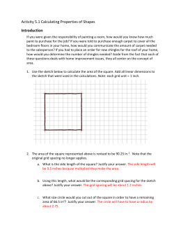 Activity 5.1 Calculating Properties of Shapes