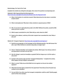 Lesson 5 cloning student worksheet
