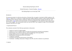 Bromine Backup Data Report, ID-108 Related Information: Chemical