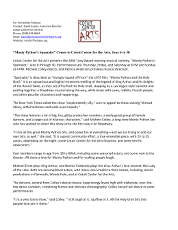 For Immediate Release: Contact: David Kuehn, Executive Director