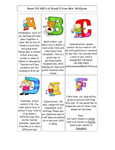 Our Classroom ABCs