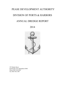 2014 annual dredge report - New Hampshire Division of Ports and