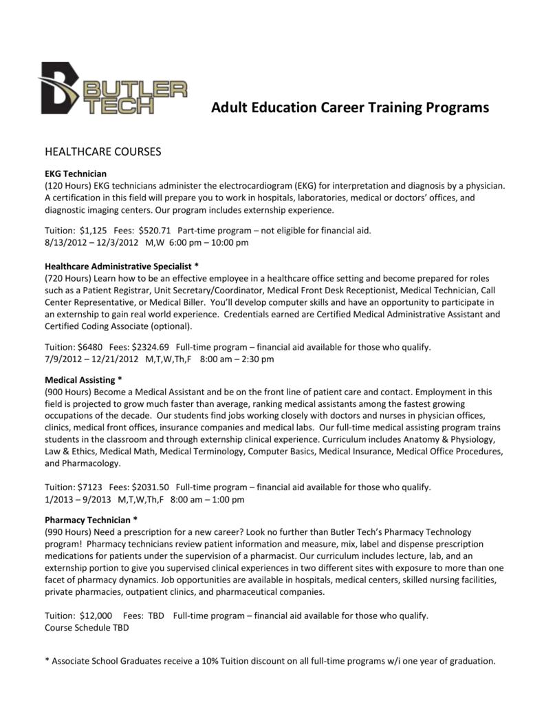 Adult Education Career Training Programs