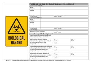 GMO Consignment Transport Label ( DOC 75k)
