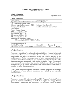 INTEGRATED SAFEGUARDS DATASHEET APPRAISAL STAGE I