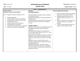 woodland hills secondary lesson plans