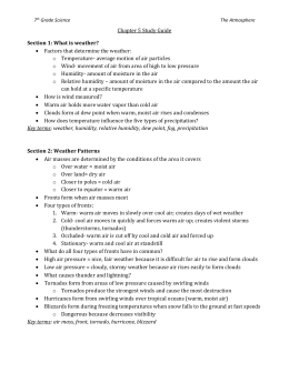 7th Grade Science The Atmosphere Chapter 5 Study Guide Section