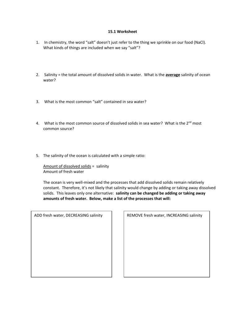 151 Worksheet