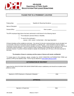 HR-03432B Leave Donation Solicitation Dept of Public Health