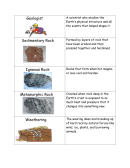 earth science pictures, words and definitions