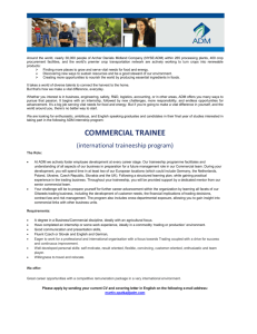 commercial trainee