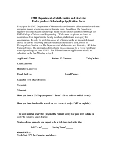 Scholarship Application Form The Department of Statistics offers