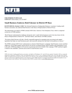 Read the Press Release here - Reid Falconer for Louisiana State