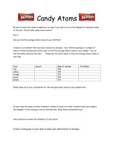 Candy Atoms Directions