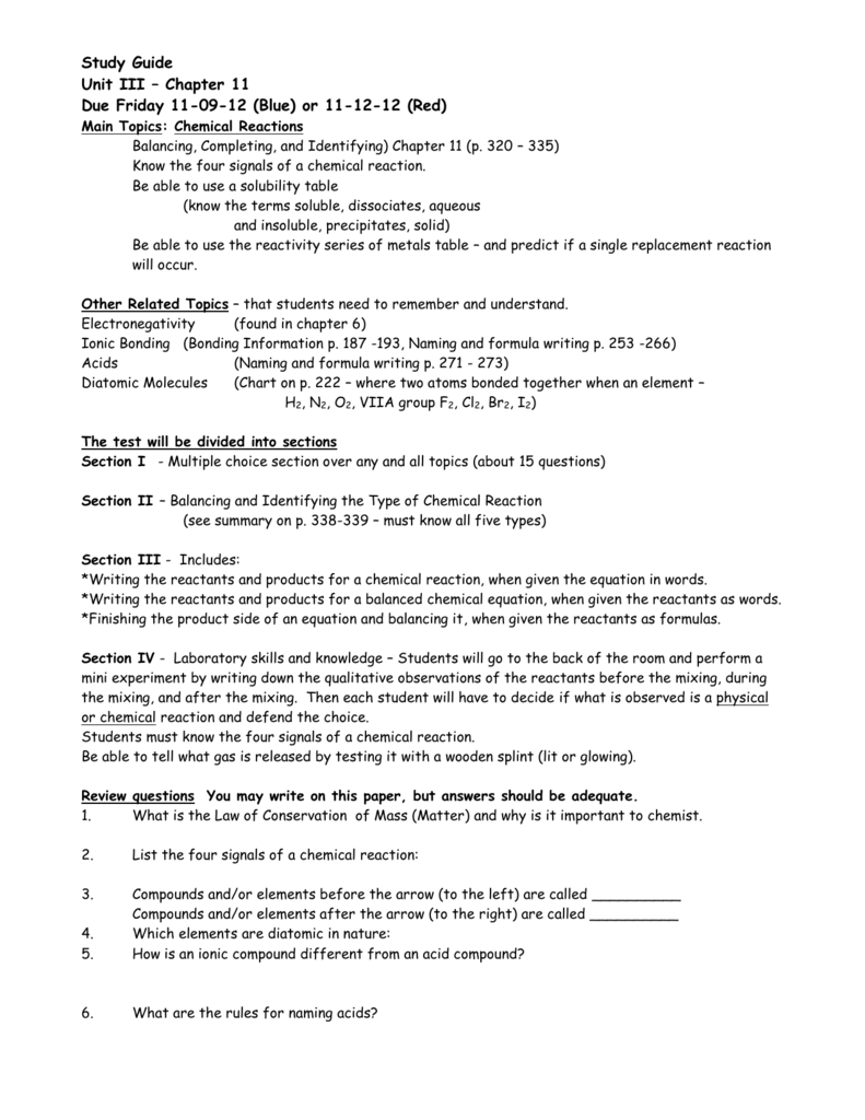 Balancing chemical equations worksheet doc