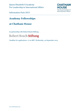Academy Fellowships