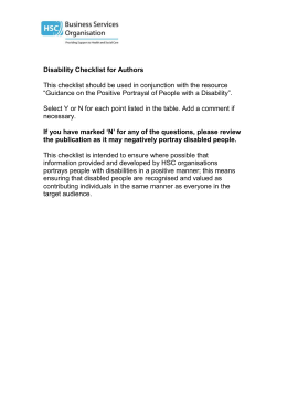 Disability Checklist for Authors