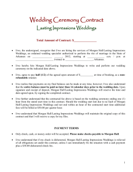 Contract for the Wedding Minister Services of: