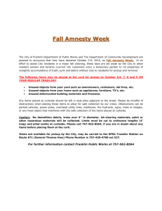 Fall Amnesty Week - City of Franklin