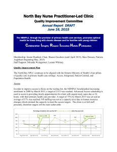 NBNPLC Quality Committee Annual Report June 2015