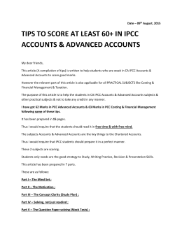 tips to score at least 60+ in ipcc accounts & advanced