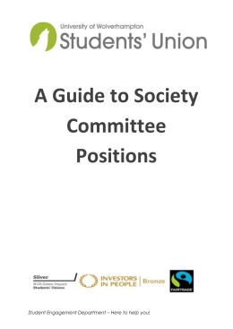 Society Committee Roles