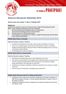 National Standards NAG2A(b) 2015