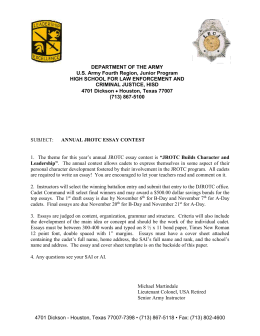 department of the army us army jrotc nd battalion 2014 essay information