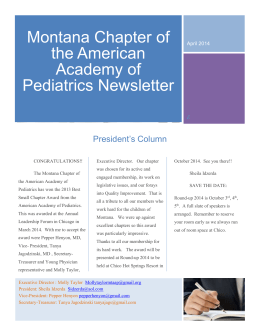 Read More - Montana Chapter of the American Academy of Pediatrics